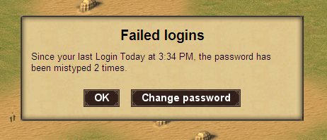 Login attempts are now shown when you log in.