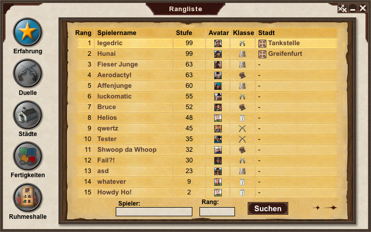 new ranking interface (click to raise)